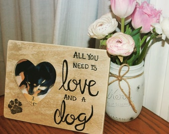 All you need is love and a dog frame