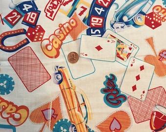 """Vintage, Cotton Fabric, Remnant, Jackpot  19"""" x 26"""""""