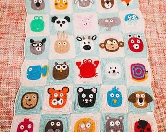 Handmade crochet baby shower baby blanket Baby Keepsake