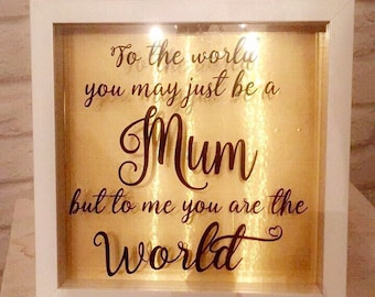 Mother frame - Mothers Day - Handmade picture frame - vinyl decal