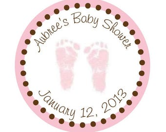 "Personalized 3"" Baby Shower Stickers"