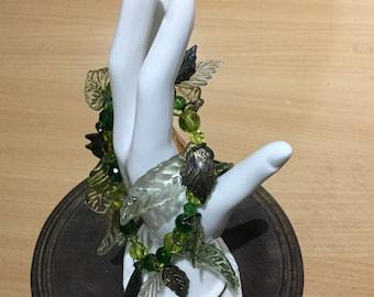 Vintage Glass Stretch Bracelet