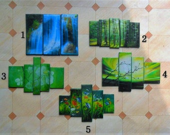 Picture, Wall Panel, Dollhouse Miniature Home Decor. Triptych. Miniature Dollhouse. 1:12 Scale