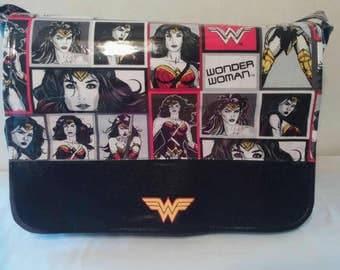 Wonder Woman Vinyl Diaper Bag/Weekender Bag/School bag