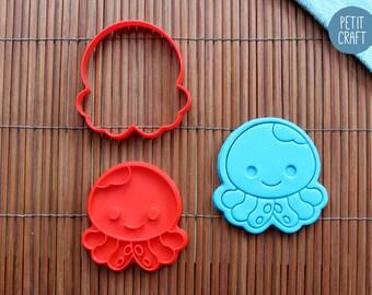 Cute Octopus Cookie Cutter, Cake and Fondant Decorate