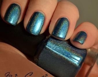 Down South - Holo Aqua Blue Linear Holographic Nail Polish