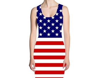 iTrendy American Flag Dress