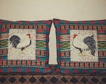 All Natural Patchwork Pillows African Magic Collection