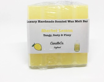 Highly Scented Sherbet Lemon Wax Melts | Wax Melts | Scented Wax Melts | Gift for Her | 30g Bar