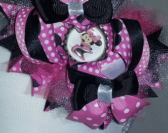 Minnie Mouse Stacked Hair Bow