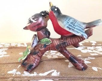Vintage Handpainted Ceramic Birds