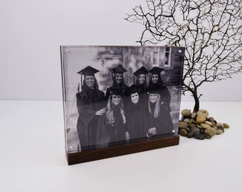 Walnut wood picture frame 8x10,