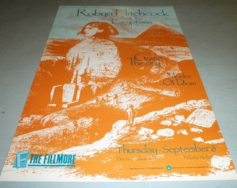 Robyn Hitchcock & The Egyptians Concert Poster - September 08, 1988