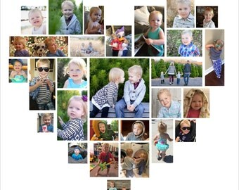 12x12 Custom Heart Photo Collage