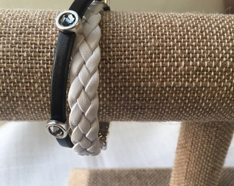 Leather Crystal Wrap Bracelet