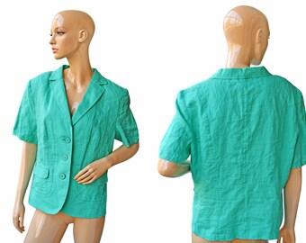 Vintage women blazer green