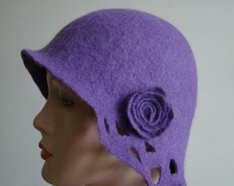 "Felted hat ""Lilac"""