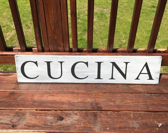 Cucina Rustic Wood Sign