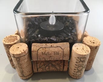 Cork Lined Candle Holder