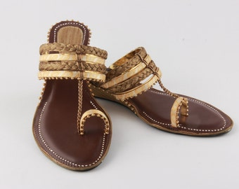 Ethnic Indian Brown Sandals