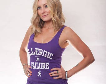 Allergic to Failure 2x1 Womens Rib Tank Top