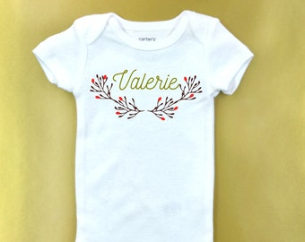 Custom name baby  Onesie ® -  girl bodysuit