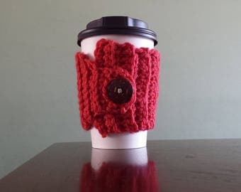Cup Cozy - Raspberry Red