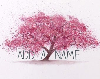 Add a Name to your September Tree Design Shirt
