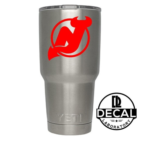 Yeti Decal Sticker - New Jersey Devils Decal Sticker For Yeti RTIC Rambler Tumbler Coldster Beer Mug