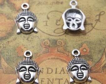 15pcs Buddha Charms silver Tone Maitreya Buddha Charm Pendants 22x14mm ASD0933