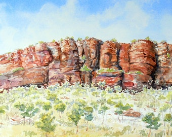 East Kimberley Escarpment, original watercolour