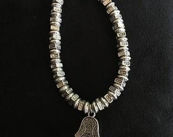 Hamsa Hand Charm Bracelet with Twist Clasp