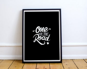 Arctic Monkeys one for the road A4 Art Print