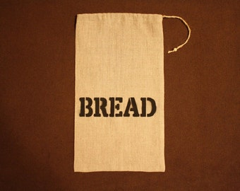 Linen Bag for Bread. Natural Fabric. Handmade