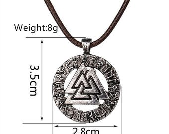 1pcs Fashion Movie Jewelry Charms Pendant Scandinavian Norse Vikings Charm ,Round Triangle Charm For Necklace Antique Sliver Jewelry