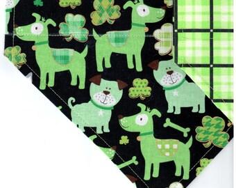 Lucky Dog | St Patrick's Day Dog Bandana | Puppy Bandana | Pet Bandana | Over the Collar Bandana