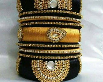 Silk Thread Bangles, Indian Bangles For Traditional Wear