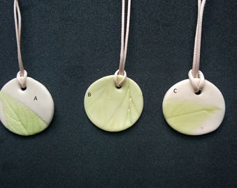Nature imprinted pendant necklace