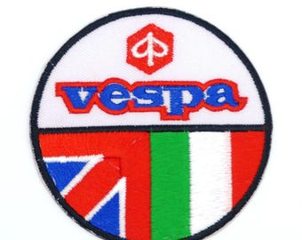 Vespa Scooter - Mods - Iron on Sew on Patch