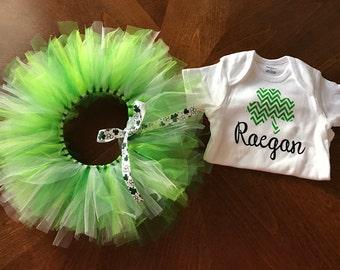 Personalized St. Patrick's Day Tutu and Bodysuit/Shirt Set for infants and toddlers