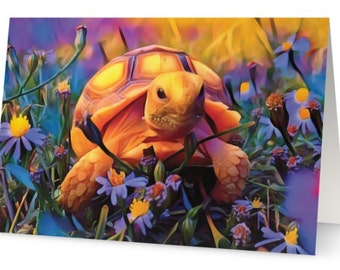 Baby Tortoise Art Card