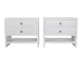 1 Pair of Contour Custom Designs Nightstands for Labr3, Sleek Nighstands, Modern Nightstands, Custom Made Nightstands, Made to Order