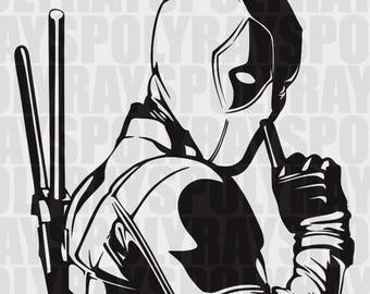 Deadpool SVG, Hero EPS, Deadpool Stencil, Vector, Clipart, PNG, eps, Marvel svg