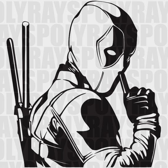 Deadpool Svg Hero Eps Deadpool Stencil Vector Clipart
