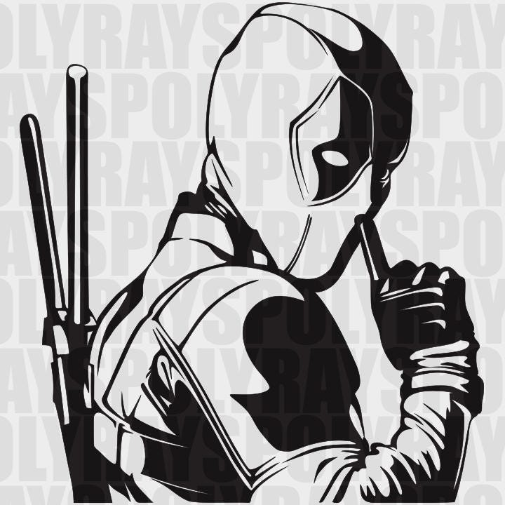 Deadpool SVG, Hero EPS, Deadpool Stencil, Vector, Clipart, PNG, eps, Marvel svg from Polyrays on ...