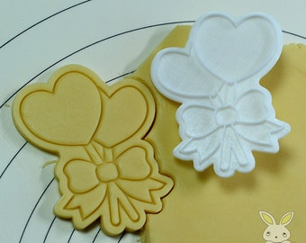 Lollipop Heart Cookie Cutter and Stamp set
