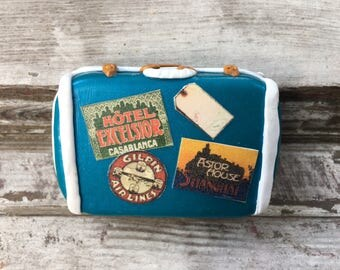 1950s Samsonite Suitcase Mini Box