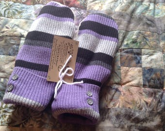 PANCAN Fundraiser upcycled sweater mittens