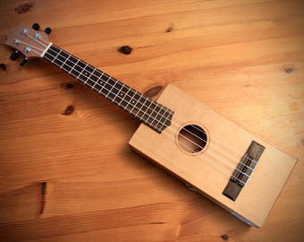 Made to Order: Handcrafted tenor scale Cigar Box Ukulele.