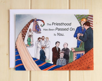 LDS Priesthood Greeting Card - Ordination